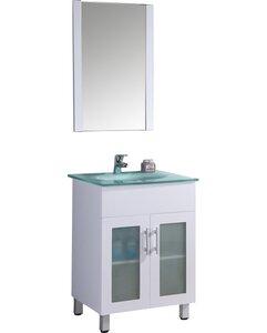 24 Single Bathroom Vanity Set with Mirror