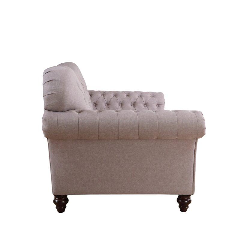 Classic Tufted Victorian Sofa