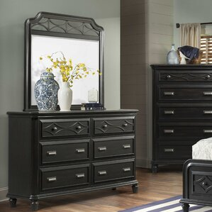 Westgate 6 Drawer Dresser with Mirror by Breakwater Bay
