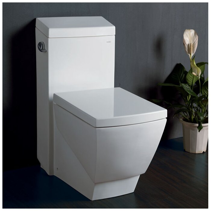 Fresca Apus Square 1.6 GPF Elongated One-Piece Toilet & Reviews ...