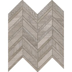 chevron marble mosaic tile in gray - Marble Mosaic Tile