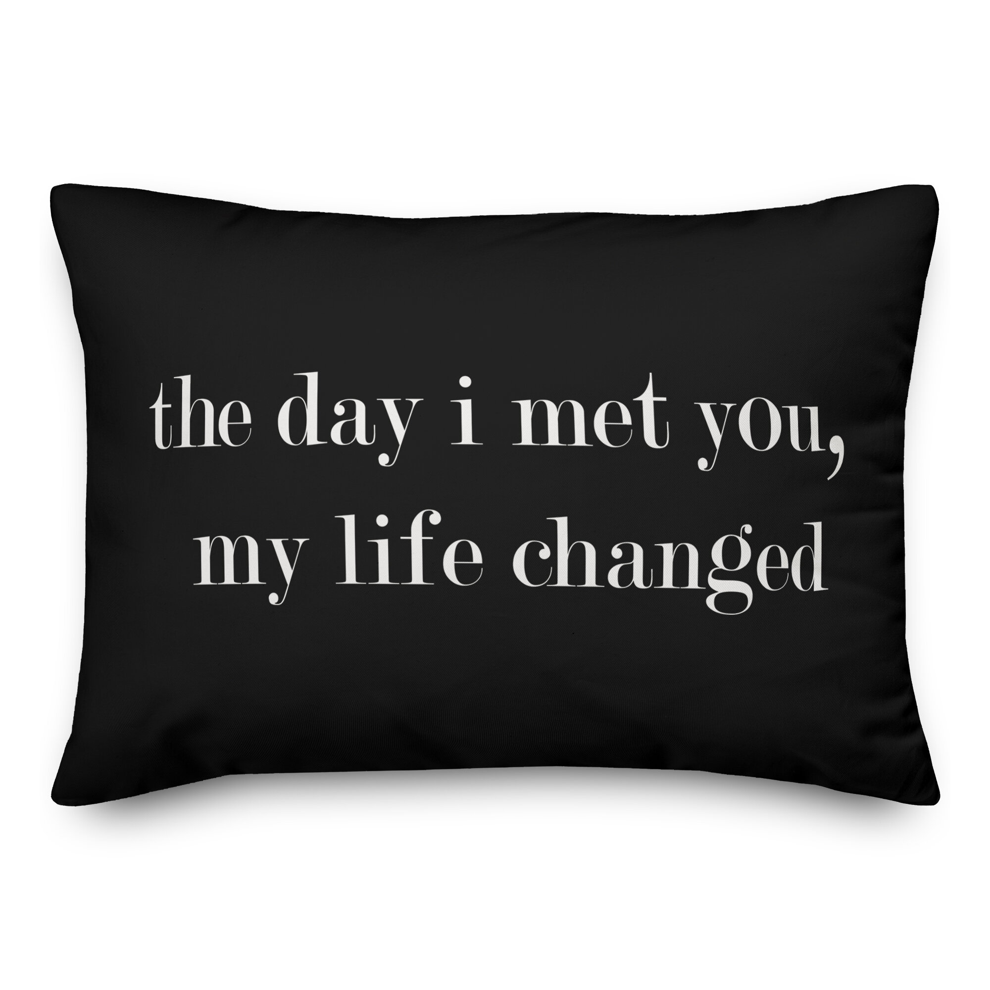 Jaxn The Day I Met You My Life Changed Lumbar Pillow Wayfairca