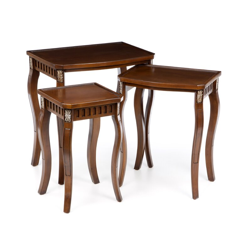 3 Piece Fielding Nesting Table Set
