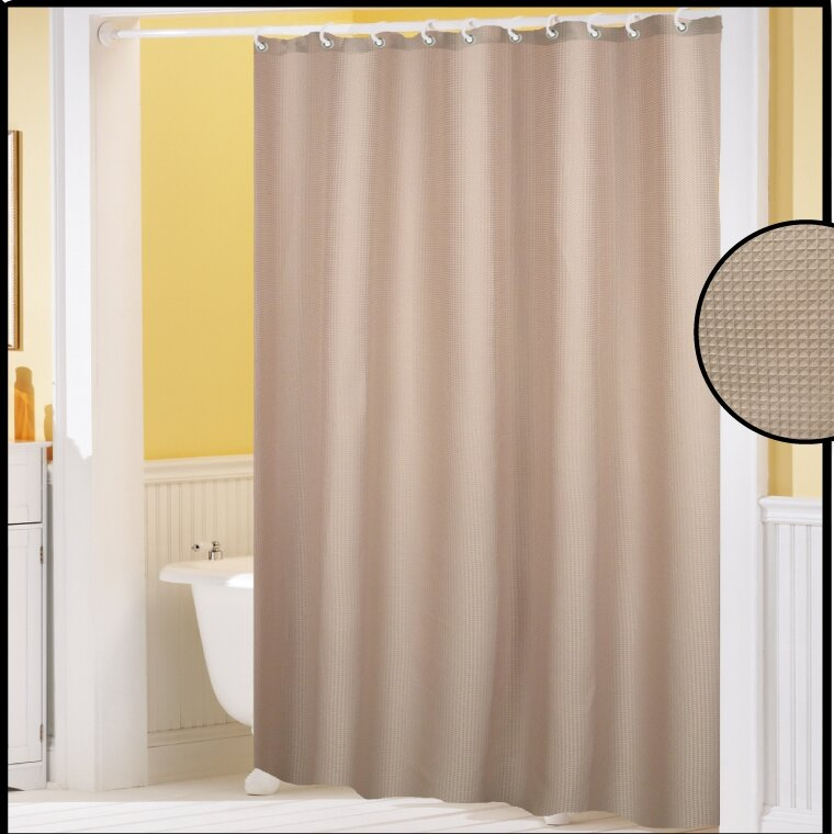 Varick Gallery Clybourne Waffle Weave Shower Curtain & Reviews ...