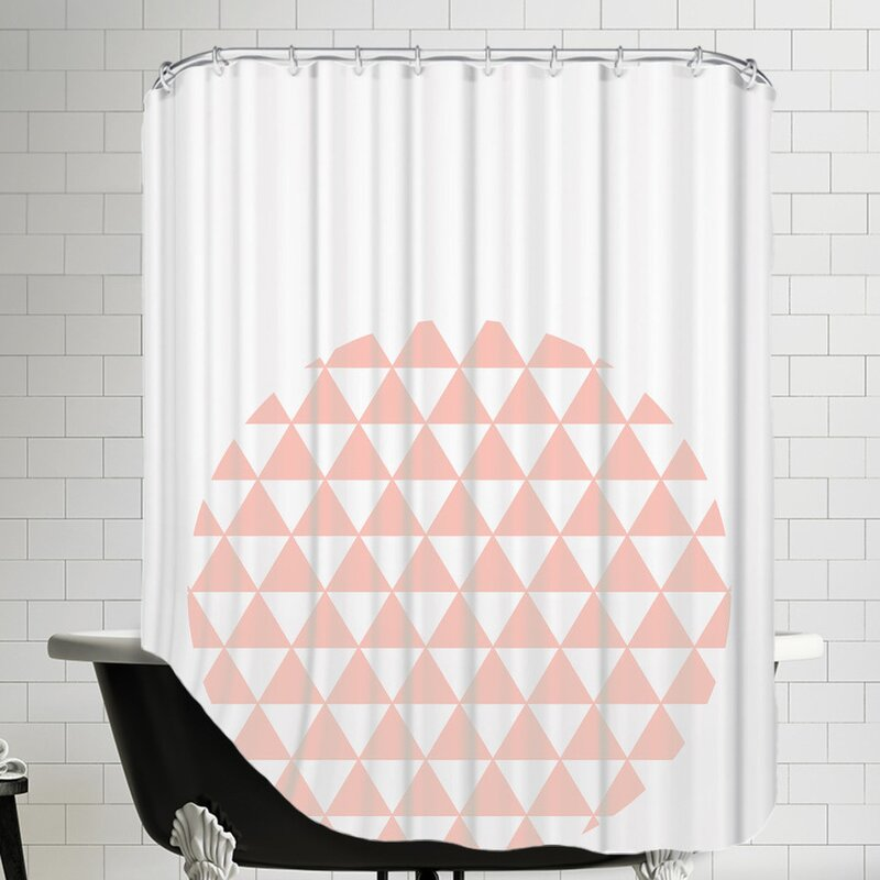 Triangle Coral Shower Curtain