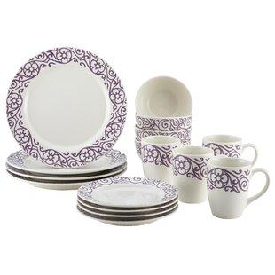 Cucina 16 Piece Dinnerware Set Service for 4  sc 1 st  Wayfair & Purple Dinnerware Sets Youu0027ll Love | Wayfair