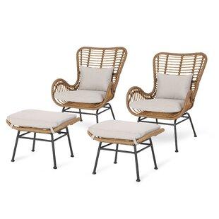 Swell Wicker Lounge Chair Wayfair Machost Co Dining Chair Design Ideas Machostcouk