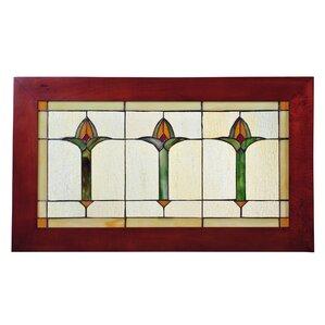 Arts U0026 Crafts Bud Trio Stained Glass Window Part 50