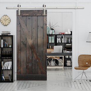 Paneled Wood Painted Stain Barn Door Without Installation Hardware Kit