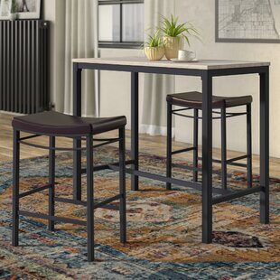 Exceptional Bezons 3 Piece Pub Table Set