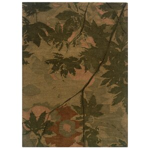 Hand-Tufted Olive/Forest Green Area Rug