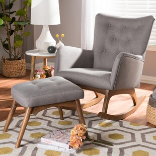 Centreville Rocking Chair with Ottoman & Rocking Chair With Footrest | Wayfair