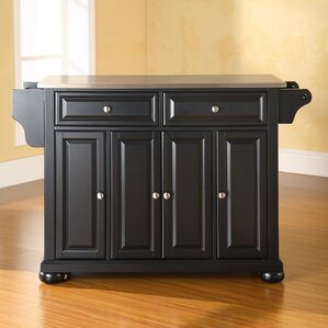 Pottstown Kitchen Island With Stainless Steel Top Part 65