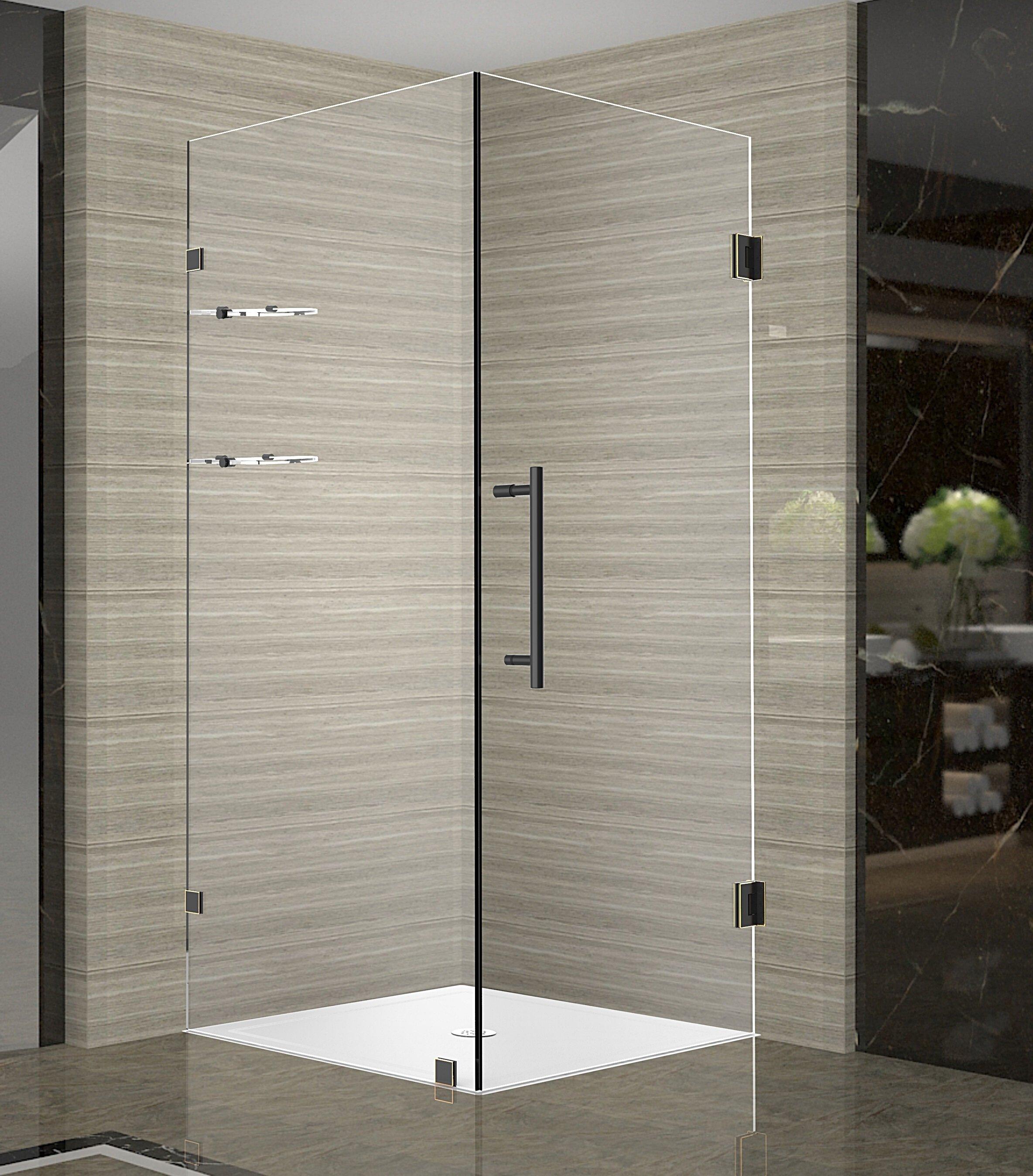Aston Aquadica Gs 34 X 72 Hinged Frameless Shower Door Wayfair