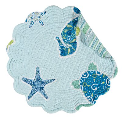 """Beachcrest Home Potamos Quilted Reversible 17"""" Placemat (Set of 6)"""