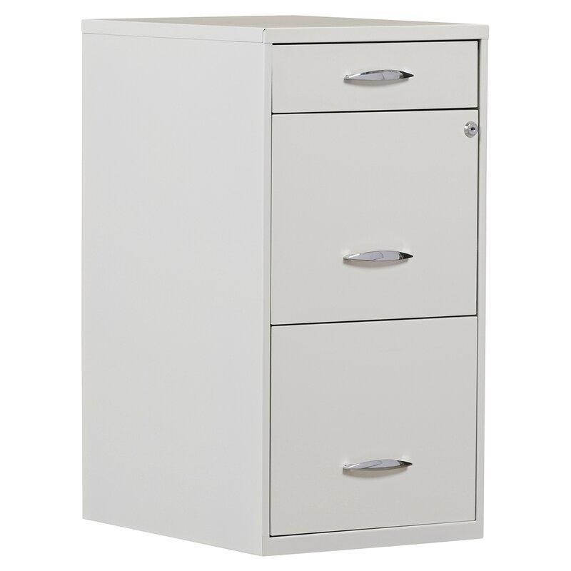 symple stuff steel 3 drawer filing cabinet & reviews | wayfair
