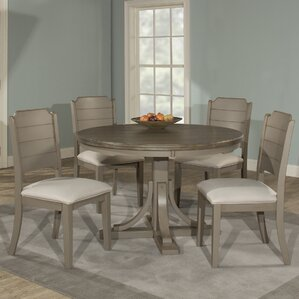 Kinsey 5 Piece Wire Brushed Dining Set by Rosecliff Heights