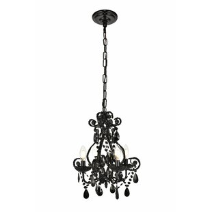 Black chandeliers youll love wayfair burcott 4 light mini chandelier aloadofball Choice Image