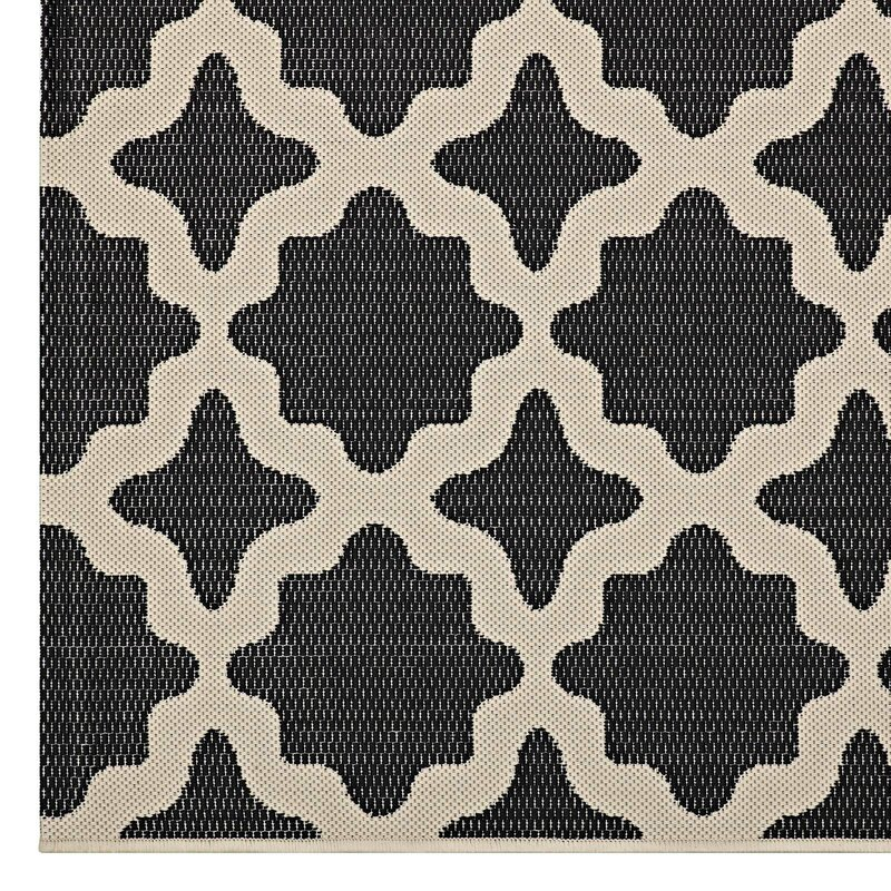 Preferred Charlton Home Hervey Bay Moroccan Trellis Black/Beige Indoor  GB79