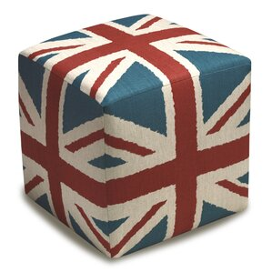 Britannia Upholstered Cube Ottoman by 123 Creations