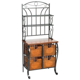 rack work bakers with southern dp wrought amazon scroll iron enterprises com black finish