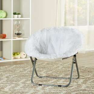 Quickview & White Faux Fur Saucer Chair | Wayfair