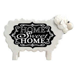 Sheep Chalkboard Figurine