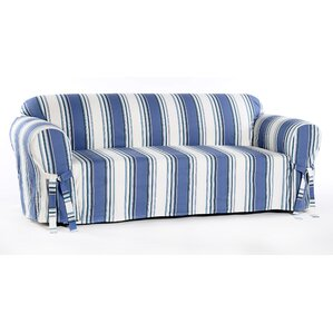 Beachcrest Home Box Cushion Loveseat Slipcover