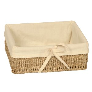 Rectangular Lined Seagrass Basket
