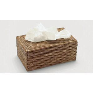Rattan Long Tissue Box Cover