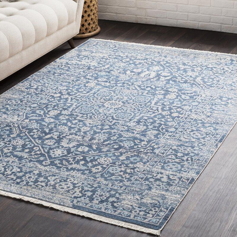 Mendelsohn Vintage Persian Traditional Blue Area Rug
