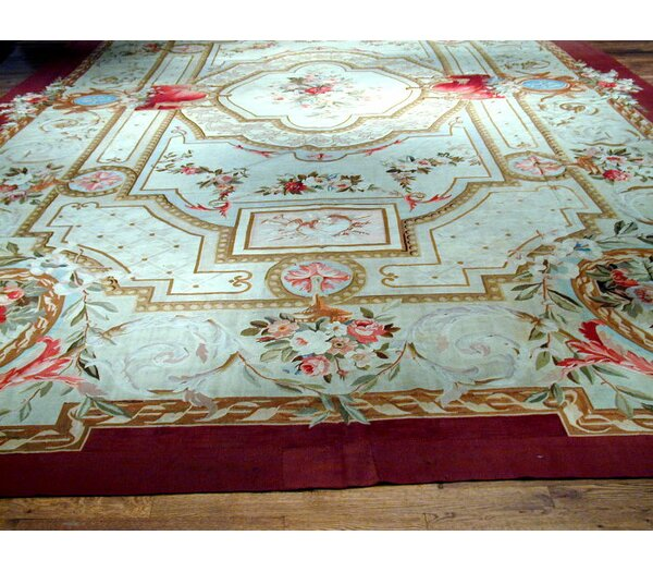 Pasargad Abusson Antique Hand Knotted Wool Blue Green Area