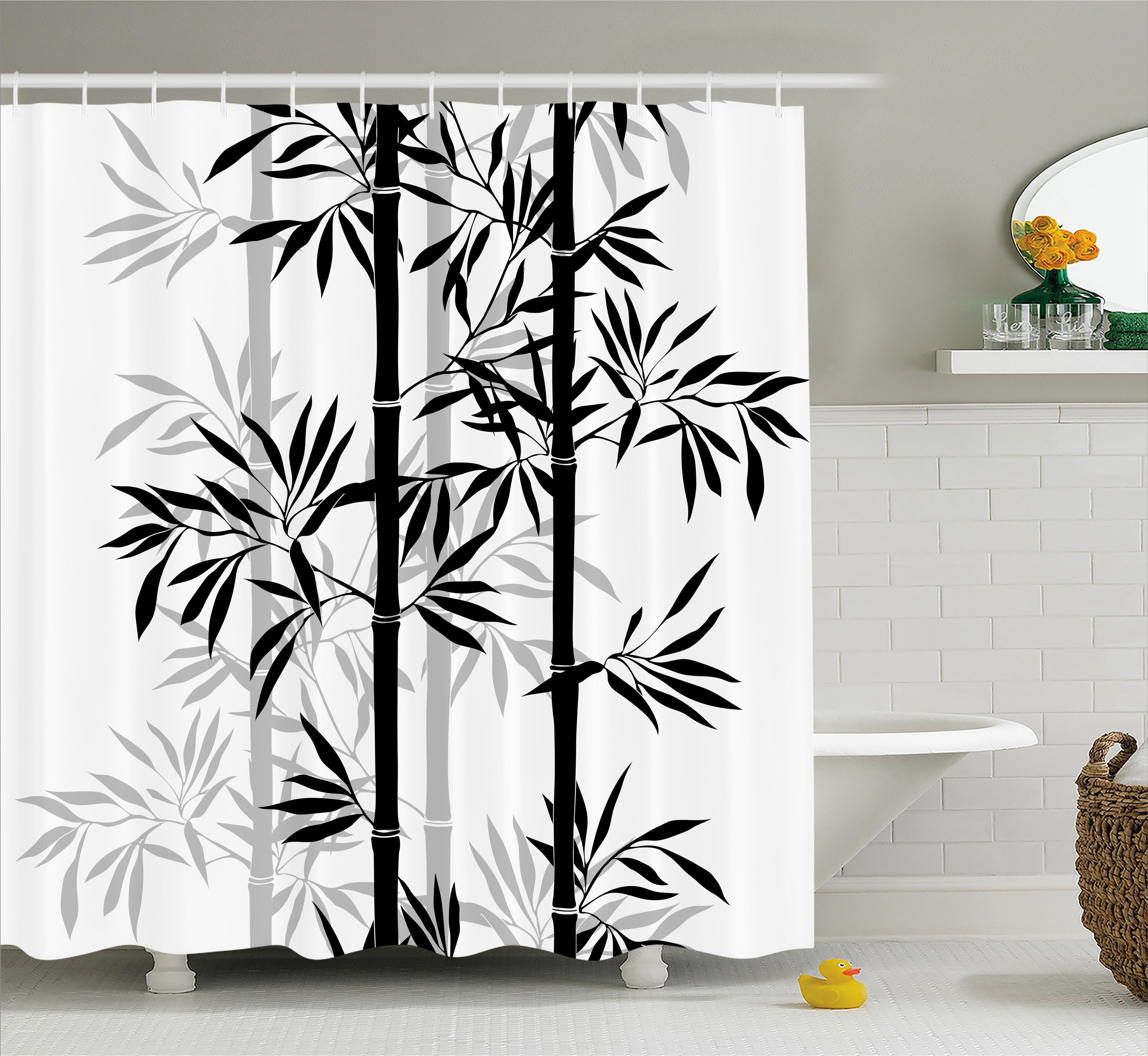 Bloomsbury Market Basil Bamboo Tree Leaves Zen Shower Curtain