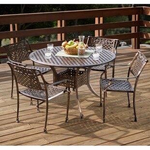 pagedale 5 piece cast aluminum dining set - Cast Aluminum Patio Furniture