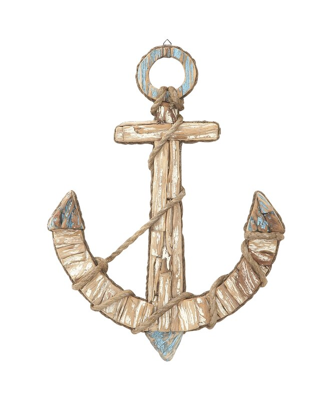 Wood/Rope Anchor Wall Décor