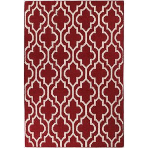 Girardville Red Area Rug
