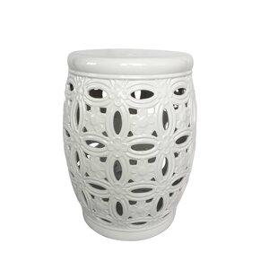 Filmore Ceramic Pierced Garden Stool
