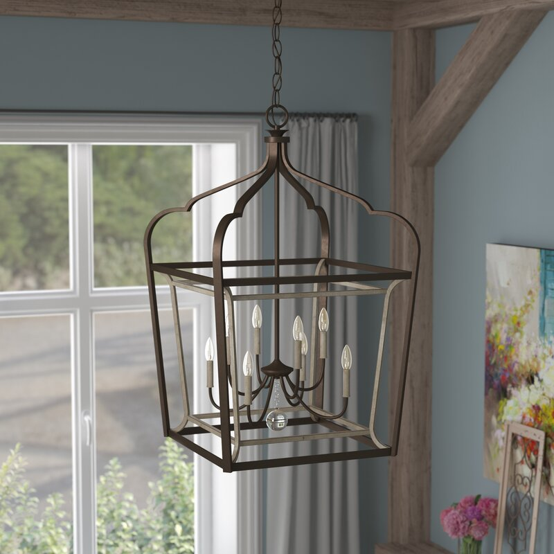 Farmhouse Entryway Chandelier: Laurel Foundry Modern Farmhouse Evangeline 8-Light Foyer