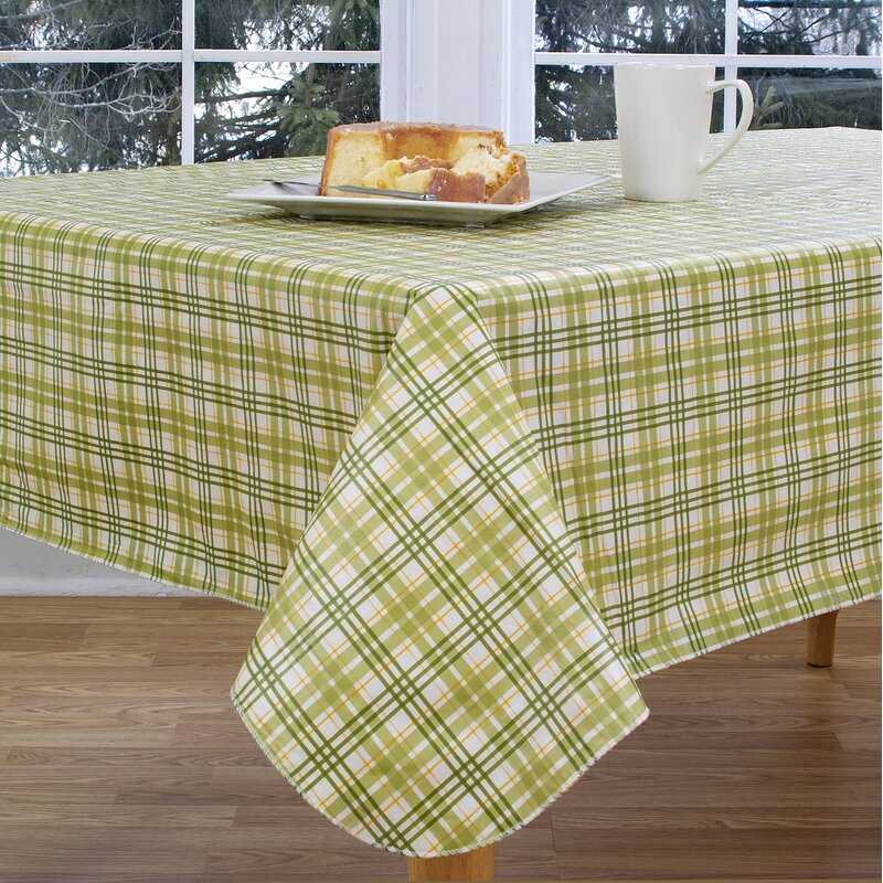 Delicieux Homestead Plaid Vinyl Tablecloth