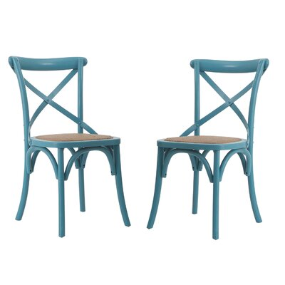 Vanhook Side Chair August Grove Color: Light Blue