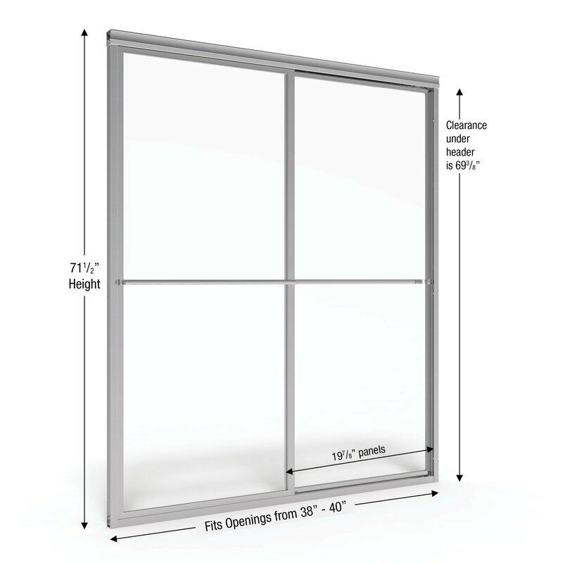 Deluxe 40 X 71 5 Framed Byp Sliding Shower Door