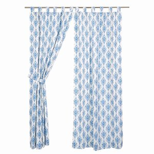 Reginald Lined Geometric Curtain Panels (Set of 2)