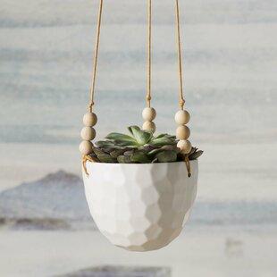 Mari Round Ceramic Hanging Planter
