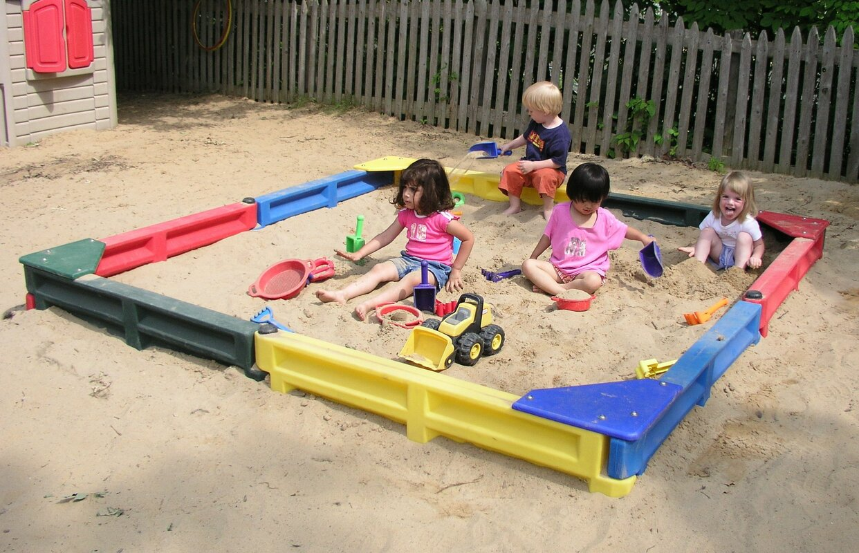 8 ft Square Sandbox