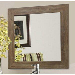 Rectangle Brown Barnwood Wall Mirror