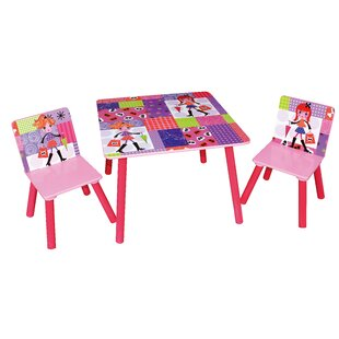 Fashion Children's 3 Piece Square Table and Chair Set by Liberty House Toys