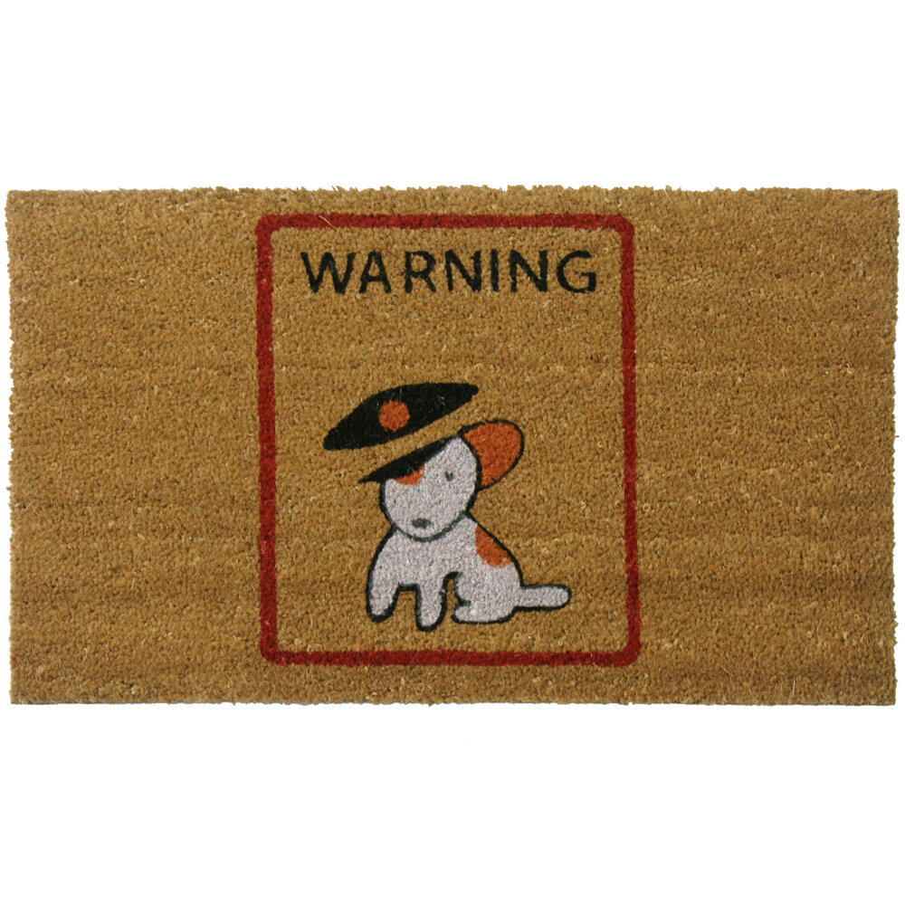 Rubber-Cal, Inc. Warning, Vicious Puppy Inside! Dog Doormat ...
