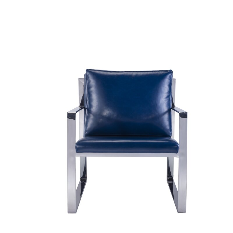 Luxe Faux Leather Armchair
