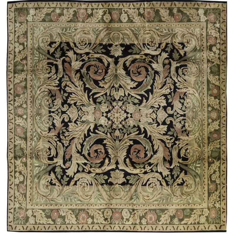 Bokara Rug Co., Inc. One-of-a-Kind Himalayan Hand-Knotted Square 82 Wool Beige Area Rug