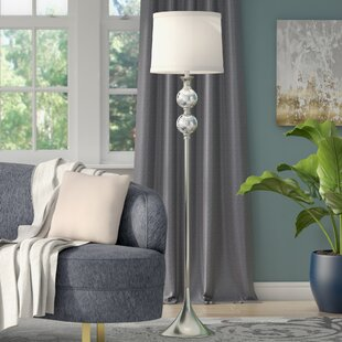 Crystal tower floor lamp wayfair mcmillan crystal and metal 615 floor lamp aloadofball Images